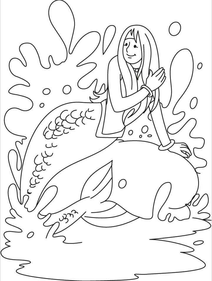 Beautiful Mermaid Coloring Pages Download Free Beautiful Mermaid
