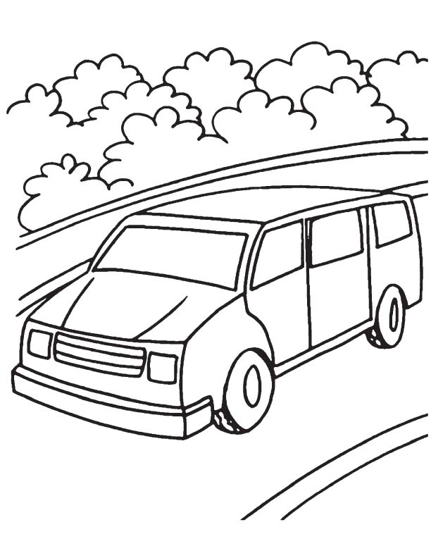 Mini Van Coloring Page