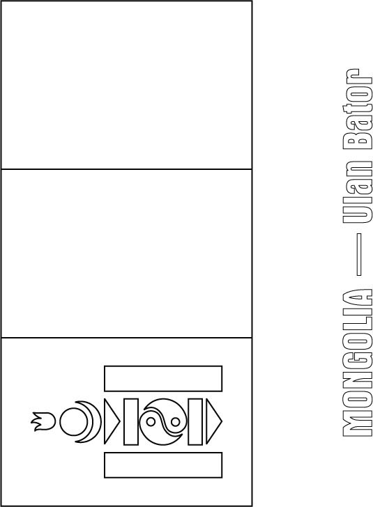 Mongolia Free Coloring Pages Mongolia Flag Coloring Page