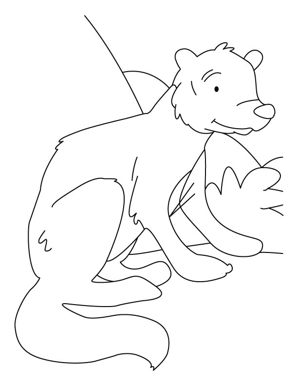 White-tailed mongoose coloring pages