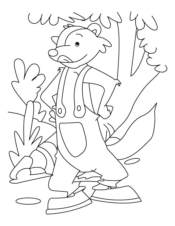 Sleek and smart mongoose coloring pages