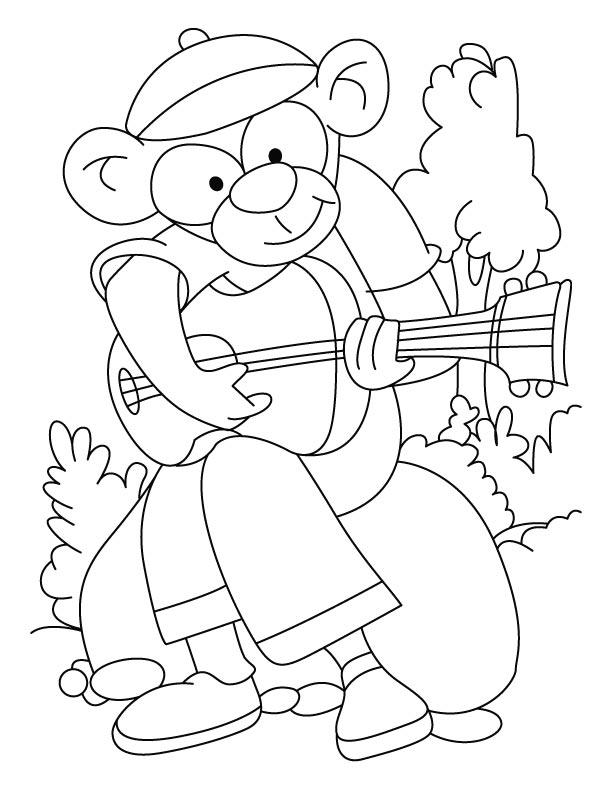 rockstar coloring pages printables | Rockstar monkey coloring pages | Download Free Rockstar ...