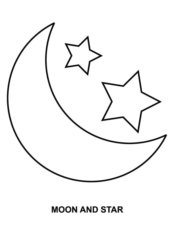 star coloring pictures moon and star coloring pages free printable ...