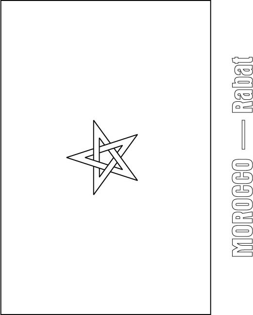 Morocco Flag Coloring Page Download Free Morocco Flag Coloring Zambia Flag Coloring Page
