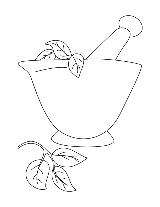 Mortar and pestle coloring page | Download Free Mortar and pestle ...