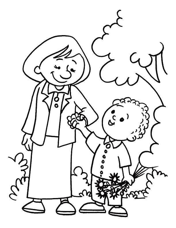 Mothers You Are My Best Master And Guide Coloring Page