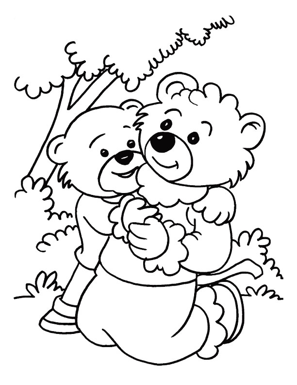 On An Outing With Mother Mothers Day Coloring Page