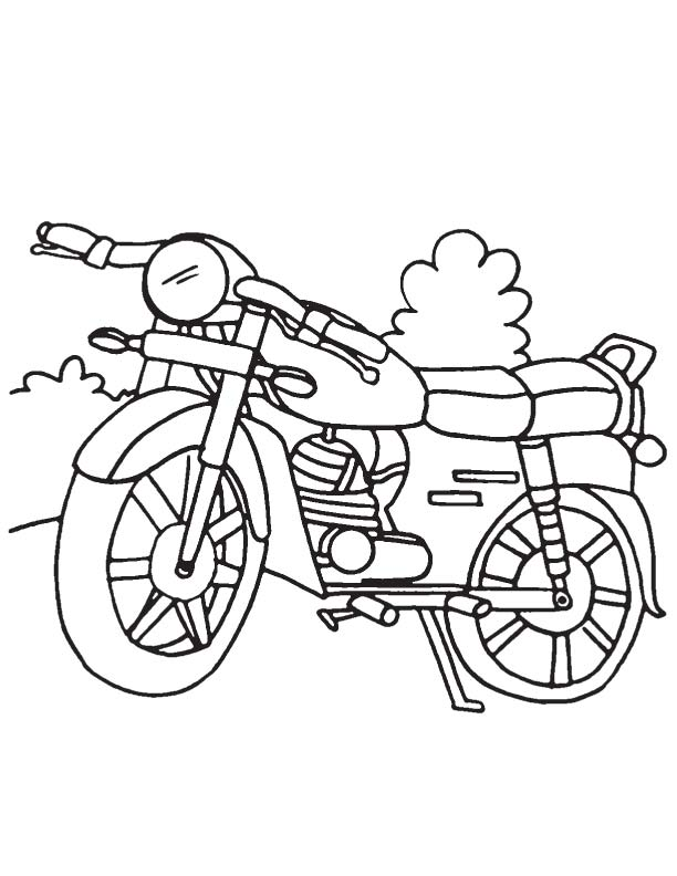 coloring pages of motorcycles - preschool worksheets about motorcycles preschool best