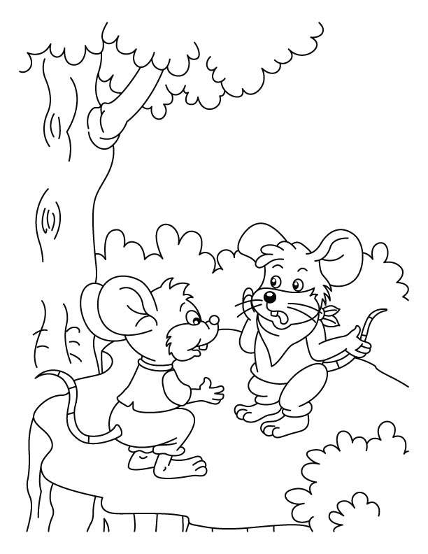 mice talking about cat coloring pages download free mice talking - Coloring Picture Of A Mouse