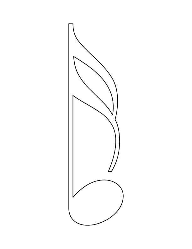 Free D Notes Coloring Pages