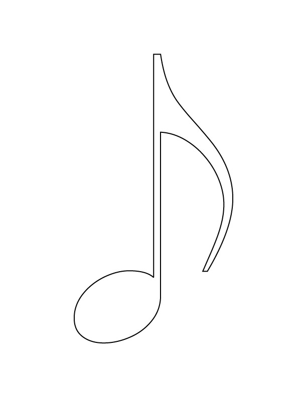 musical note coloring page download free musical note