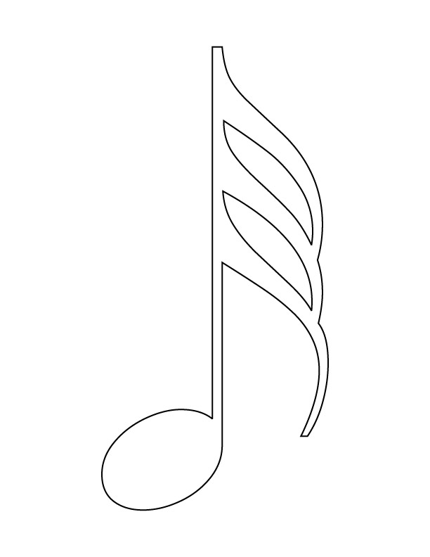 Musical note coloring page Download