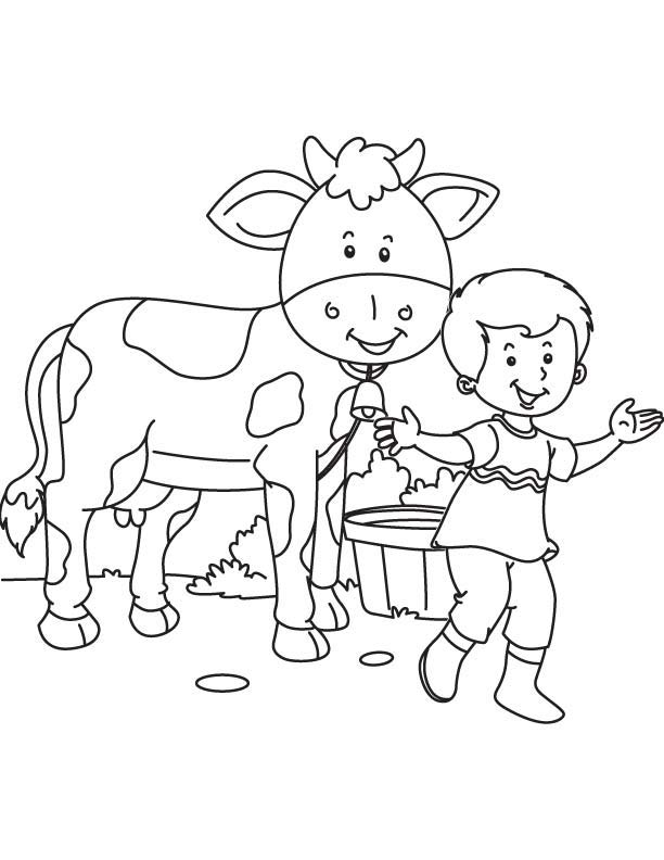 my pet cow coloring page