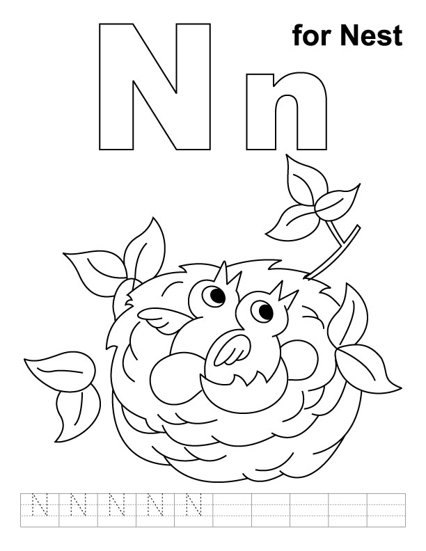 n coloring pages - photo #40