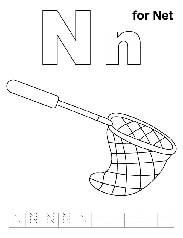 n is for night coloring pages - photo #23