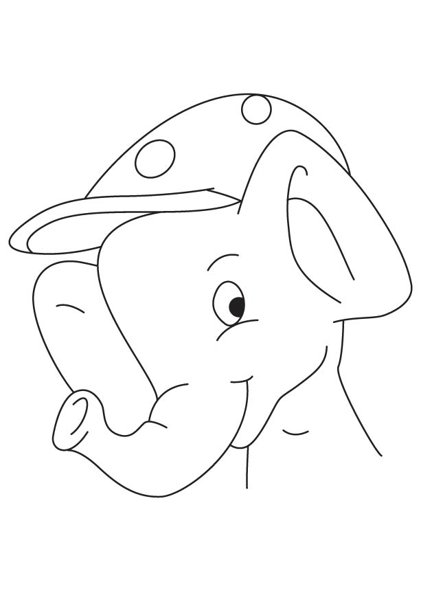 Naughty elephant coloring page