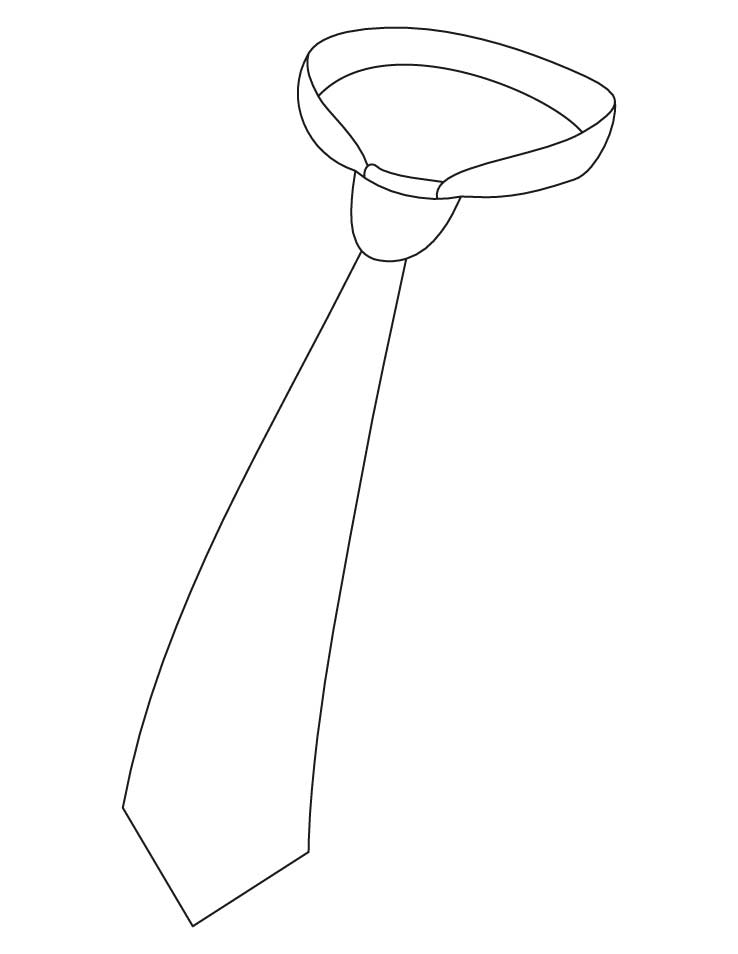 Necktie coloring pages Download Free Necktie coloring pages for