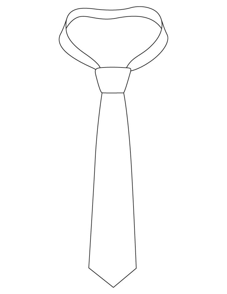 Necktie with knot coloring pages Download Free Necktie with knot