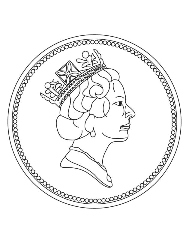 New one penny coin coloring page Download Free New one penny
