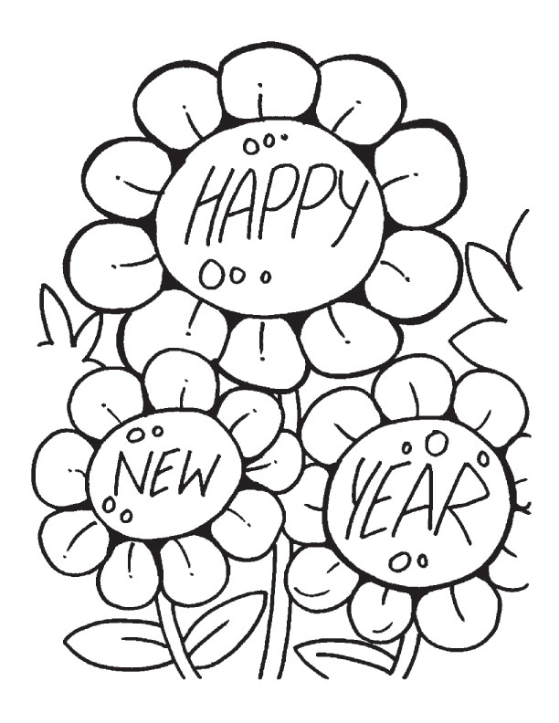 Three sun flowers coloring pages Download Free Three sun flowers