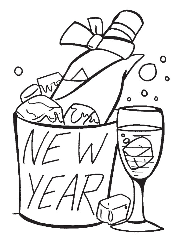 coloring page download free happy new year coloring page for kids