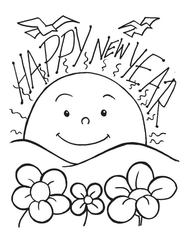A new dawn on the new year day coloring pages Download Free A new