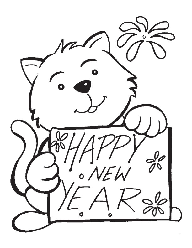 Happy New Year Buddy Coloring Page Download Free Happy New Year New Years Coloring Pages