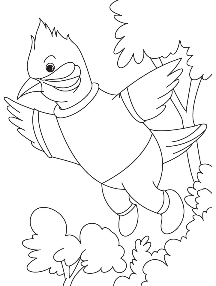 A singing nightingale bird coloring page Download Free A singing