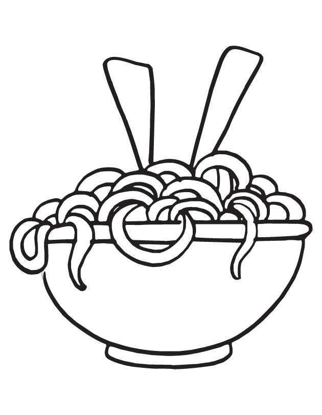 Free Coloring Pages Of Noodles Pasta Coloring Pages