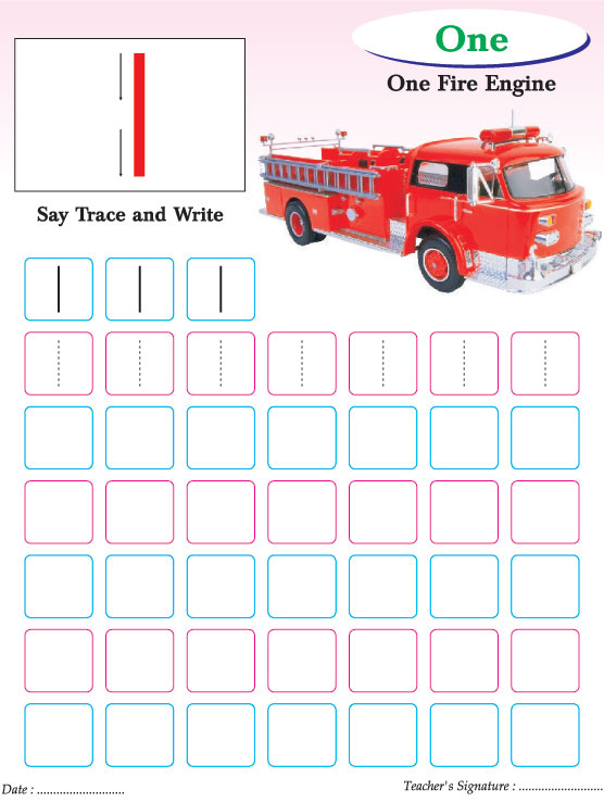 Numbers writing practice worksheet-1