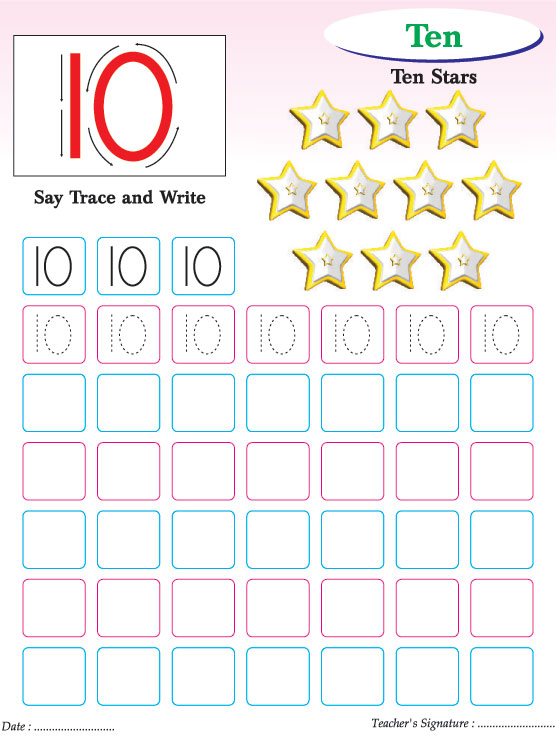 number writing practice 1 10 Number writing - homeschool mom blog with free printables.