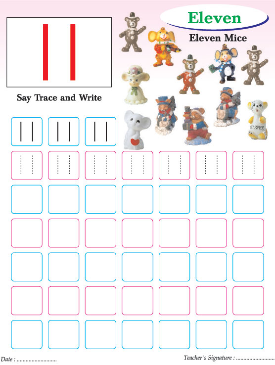 Numbers writing practice worksheet-11