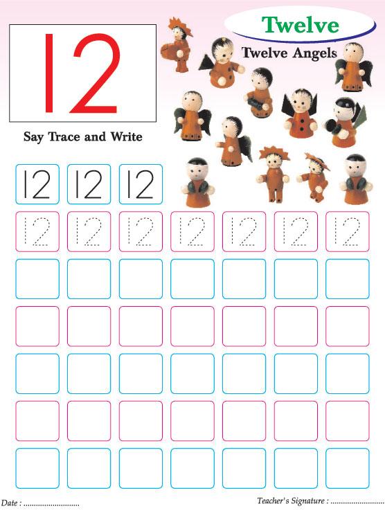 Number Names Worksheets number writing practice Free Printable – Number 12 Worksheets