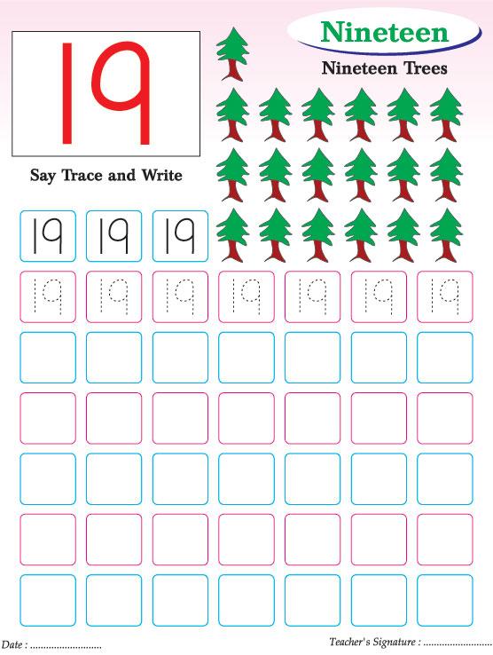 Numbers writing practice worksheet-19