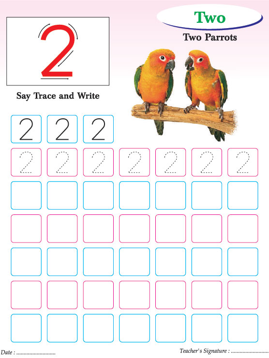 Numbers writing practice worksheet-2 | Download Free Numbers ...