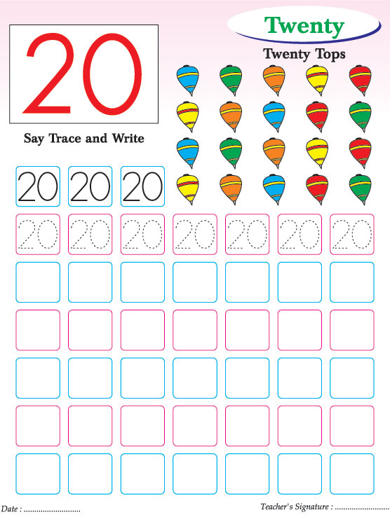 Number Practice Kindergarten Numbers Writing Practice