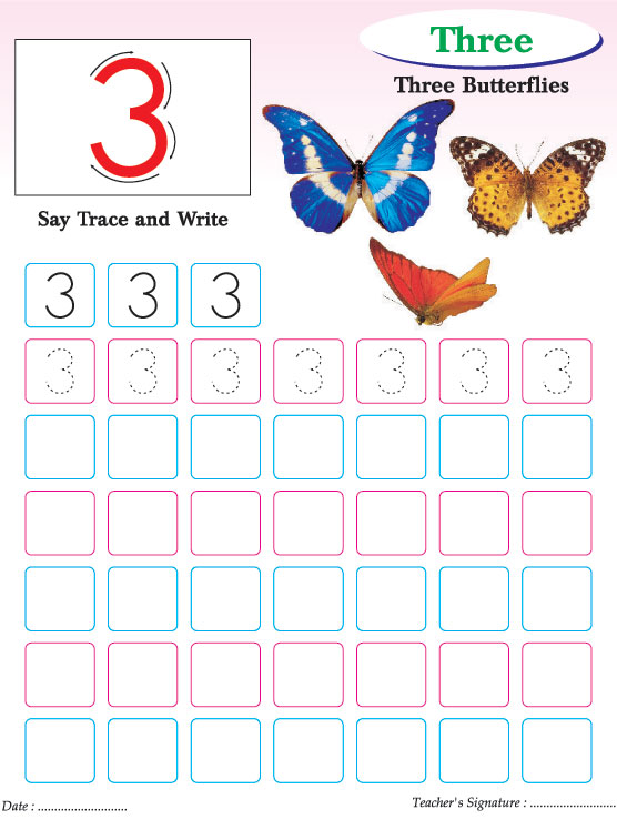 Numbers writing practice worksheet3 – Practice Writing Numbers Worksheets