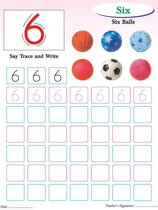 Numbers writing practice worksheet-6