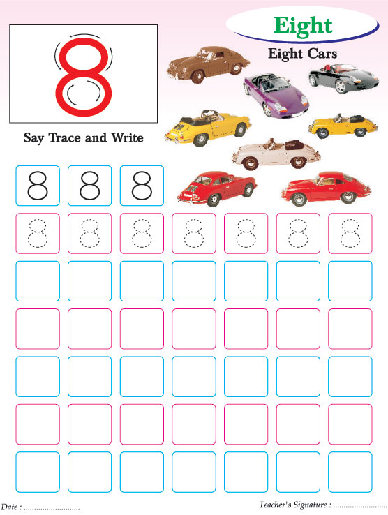 Numbers writing practice worksheet8 – Number Writing Practice Worksheets
