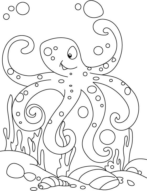 cute octopus coloring pages sea monster octopus coloring page