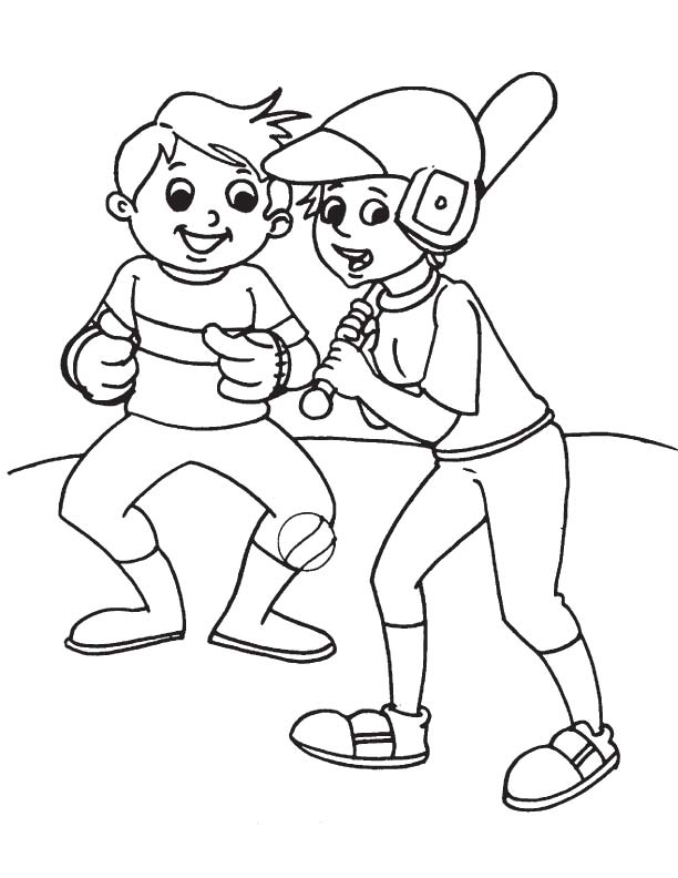 Official baseball practice coloring page