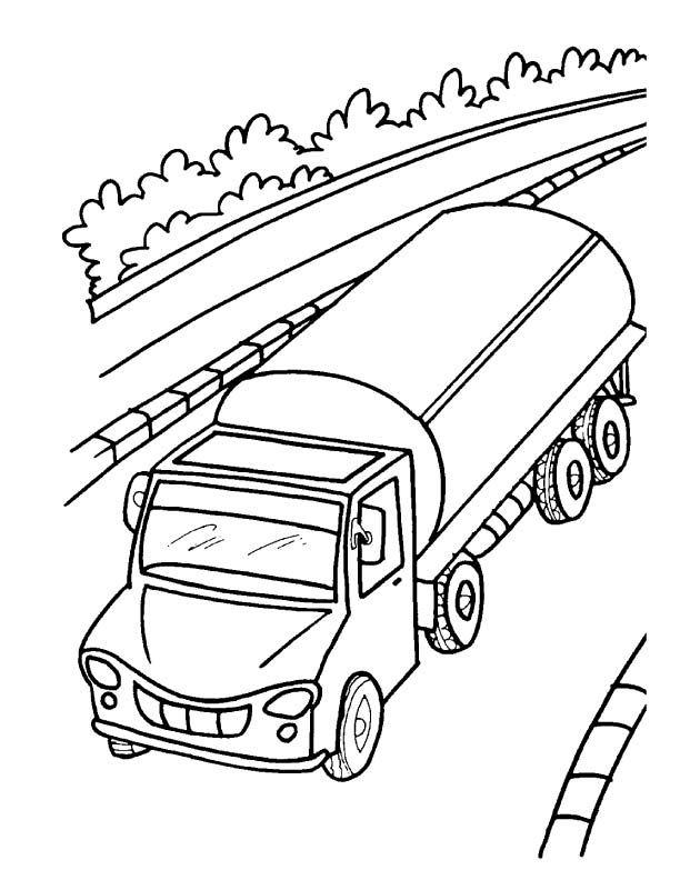 Oil tanker truck coloring page Download Free Oil tanker