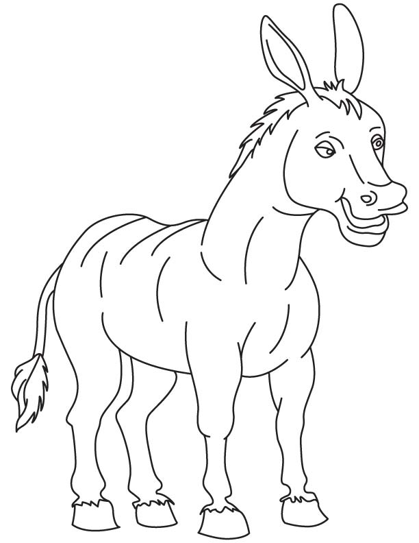 Old Donkey Coloring Page