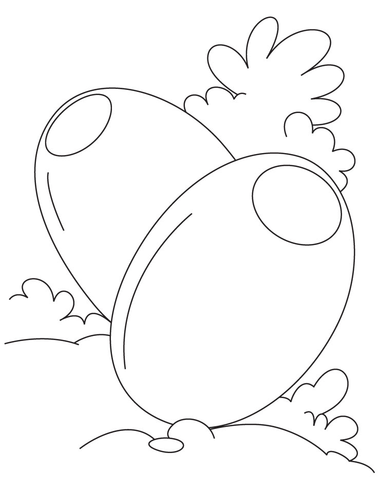 Two egg shaped olive coloring pages