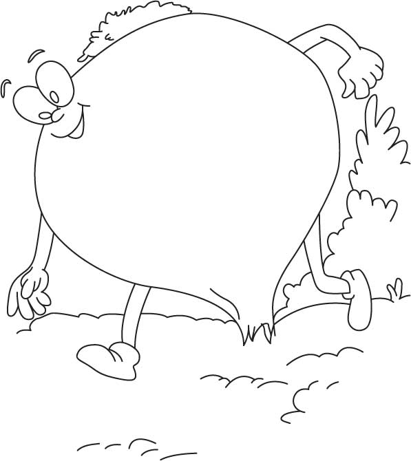 Onion walking coloring page