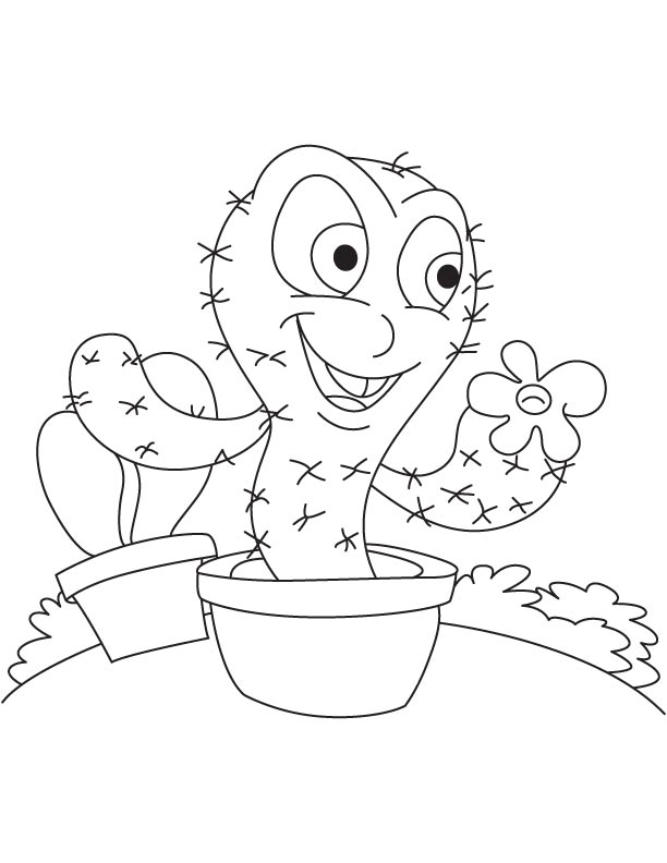 coloring pages cool cactus coloring pages encephalocarpus - Prickly Pear Cactus Coloring Page