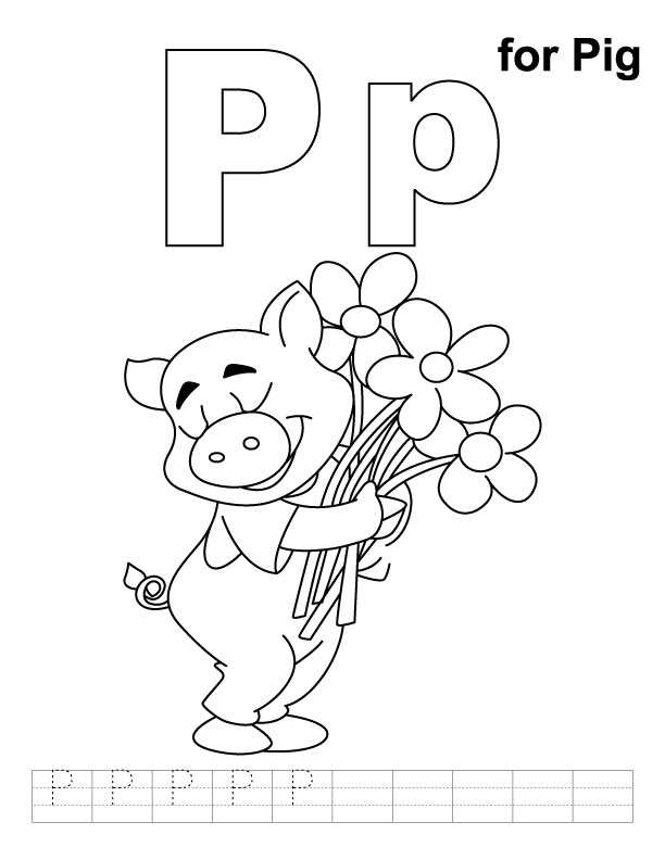 pig coloring pages for preschoolers - photo#32