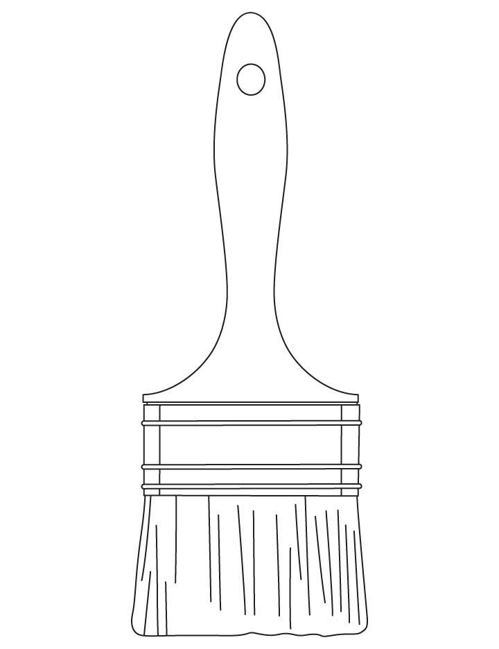 Paintbrush coloring pages
