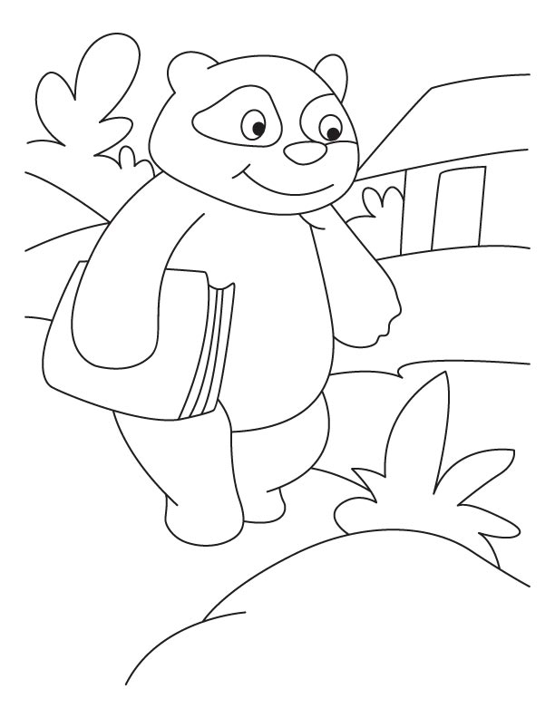 Panda professor coloring pages