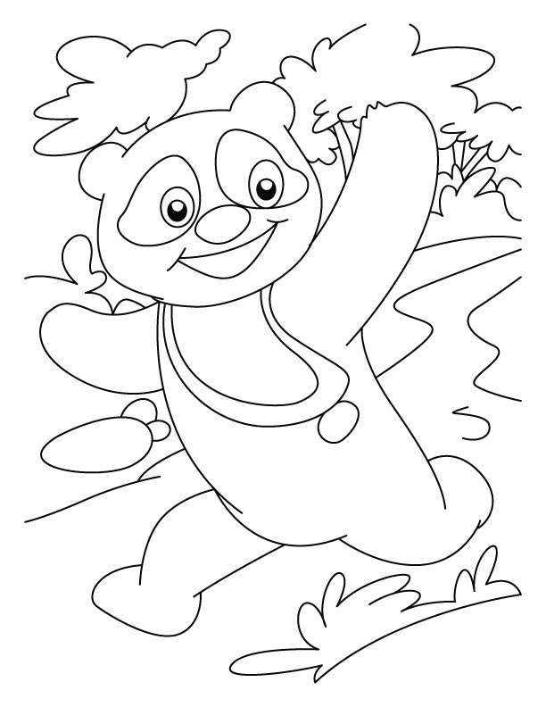 Panda the race winner coloring pages